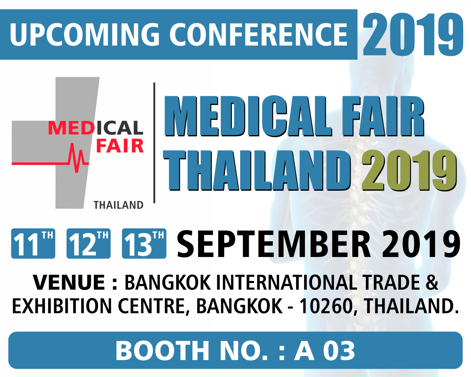 MEDICAL FAIR THAILAND - 2019